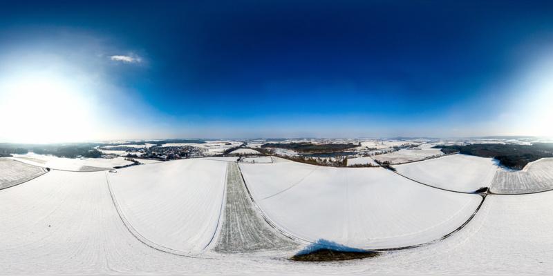 Bucher Stausee im Winter
